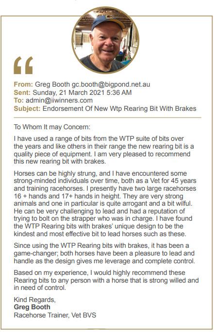greg booth rearing bit testimonial